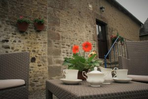 Relax on the Breakfast Terrace | Wheel House Gite